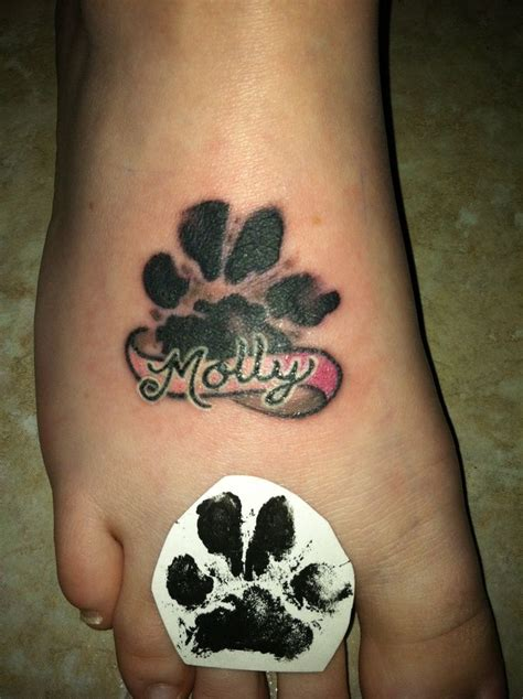 dog footprint tattoo image result for animal footprint tattoos