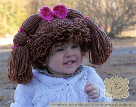 cabbage patch hat crochet attach hair cabbage patch crocheted hat pattern with braided hair