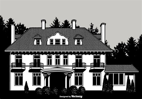 design a mansion colonial mansion vector design free vector stock graphics images