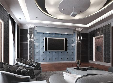 small cinema interior design 3d