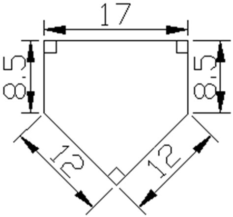 home plate dimensions clipart best