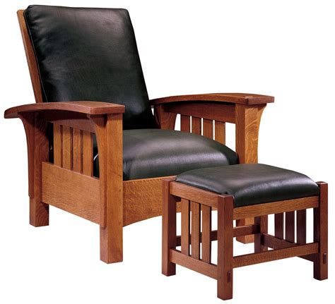 Morris Armchair by Stickley Furniture Classic Bow Arm Morris Chair Ottoman The Mission Home