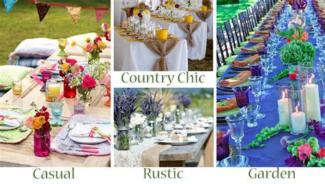Floral Centerpiece Idea For Casual Weddings by Your Outdoor Wedding Reception What S Your Style