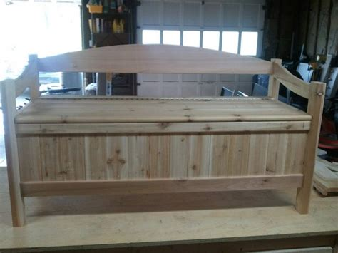 cedar storage bench woodworking talk woodworkers forum