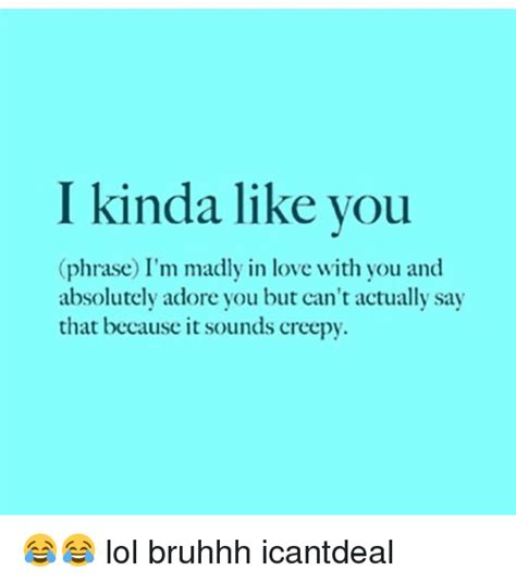 I Like You Meme - i kinda like you phrase i m madly in love with you and