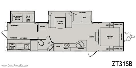 zinger travel trailers floor plans 2010 crossroads zinger 31sb travel trailer cambridge oh