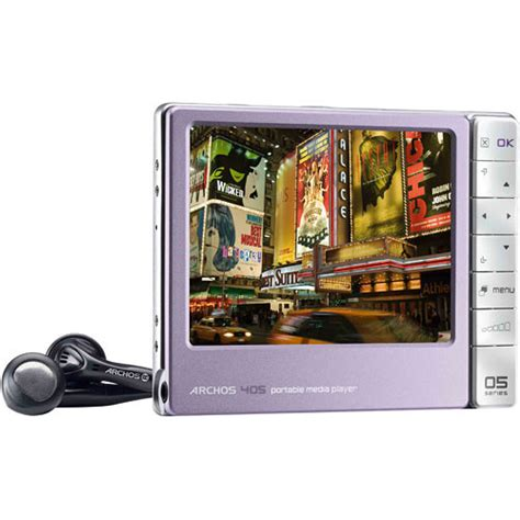 Archos Pmp Thats Portable Media Player To The Uninitiated by Archos 405 2gb Portable Media Player With Sd Slot Purple