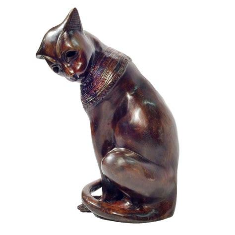 egyptian cat sculpture the met store bronze egyptian cat sculpture metropolitan galleries inc