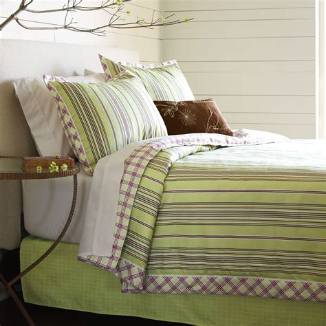 Springmaid Griffin Light Green Stripe Comforter Set