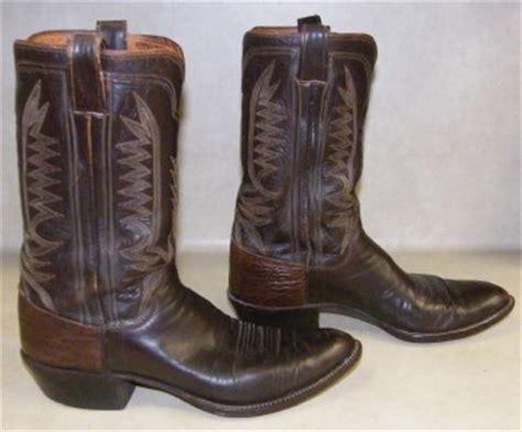 Leddy Handmade Boots - custom made m l leddy sons western cowboy boots vintage