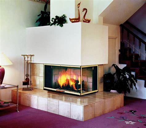 Three Sided Fireplace Wood Burning Fireplace Design Ideas Sided Wood Burning Fireplace