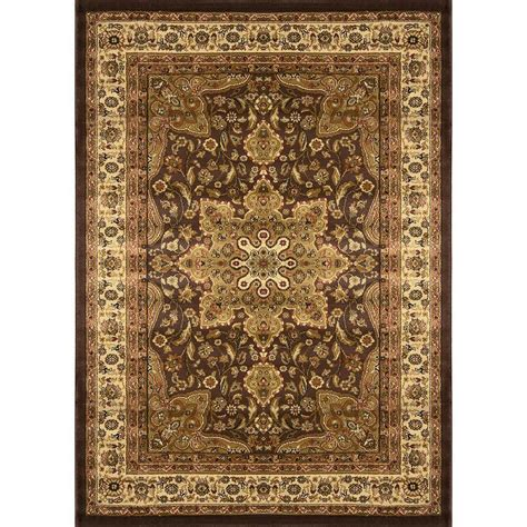 home dynamix royalty rug home dynamix royalty brown 5 ft 2 in x 7 ft 2 in indoor area rug 2 8083 500 the home depot
