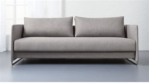 grey sleeper sofa tandom grey sleeper sofa begum grey cb2