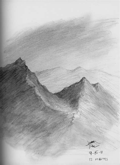 Sketches Mountains by Mountain Pencil Sketch By Jdp89 On Deviantart