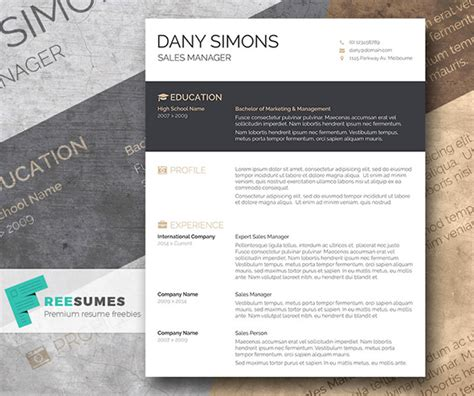creative resume word templates free free beautiful resume templates to instantly