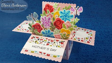 s day card boxes floral bouquet pop up box card for s day