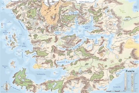 forgotten realms map the wertzone the worlds of d d forgotten realms
