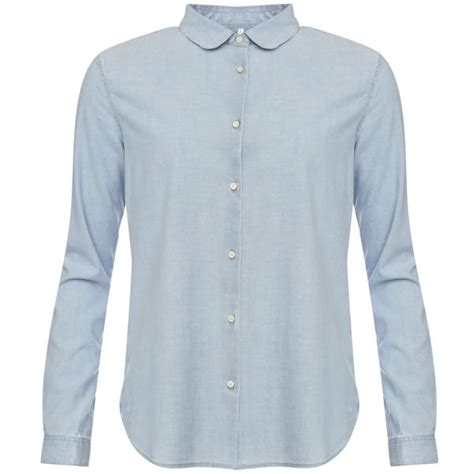 levi s made crafted s denim chambray shirt light