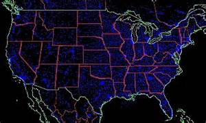 what places light pollution