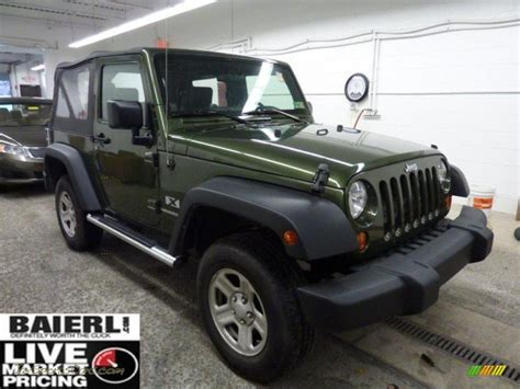 jeep car green 2008 jeep wrangler x 4x4 in jeep green metallic 646121