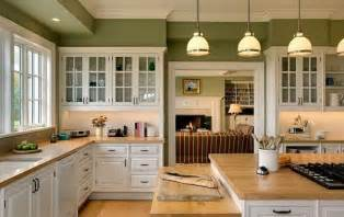 Green Kitchen Walls by White Kitchen Cabinets And Green Walls Kitchen