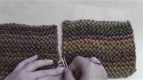 seaming knitting how to seam garter stitch