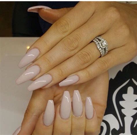 beige color nails beige stiletto nails b e a u t y stilettos