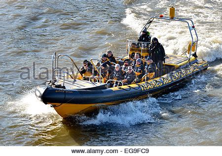 thames river cruise rib inflatable rib boat on river thames london se1 england