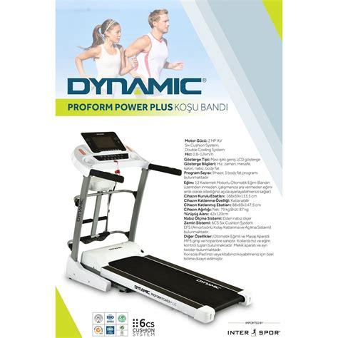 dynamic proform power   hp oto egimli masajli kosu