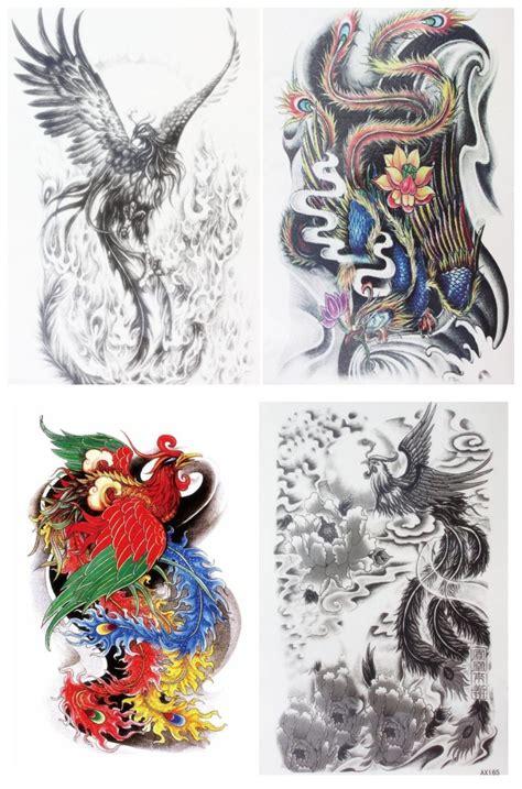 traditional tattoo phoenix az aliexpress com buy 4 pcs set waterproof temporary