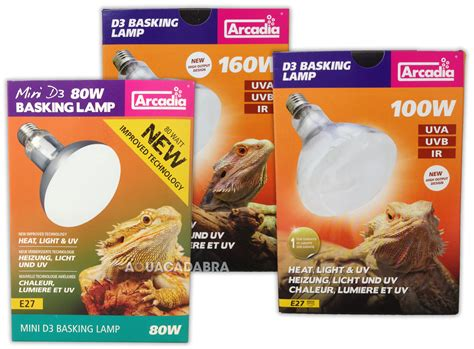 uv light fixtures reptile arcadia d3 reptile basking lamp 80w 100w 160w heat light
