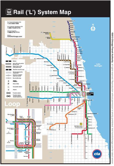 chicago redline map official map chicago l map dan