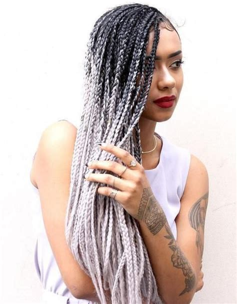 blonde and black box braids top 20 all the rage looks with long box braids blondes