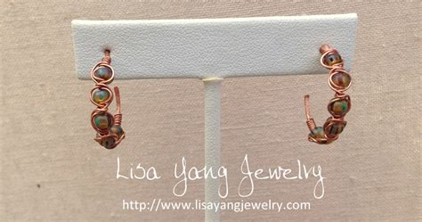 lisa yang s jewelry blog using copper embossing foil and lisa yang s jewelry blog making herringbone weave beaded