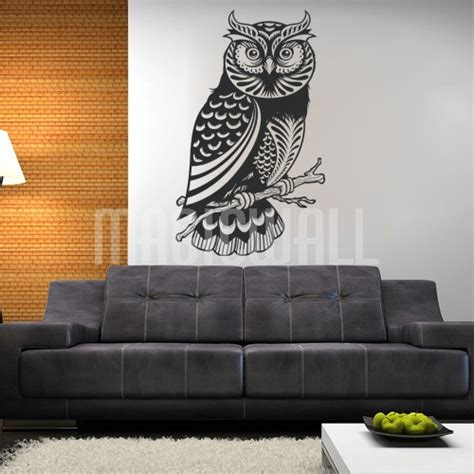 Wall Sticker Owl wall decals detailed owl wall stickers