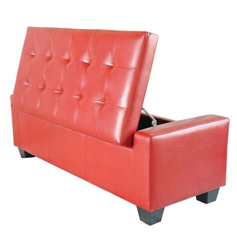 Shoe Storage Ottoman Bench Homcom Pu Leather Storage Ottoman Shoe Bench