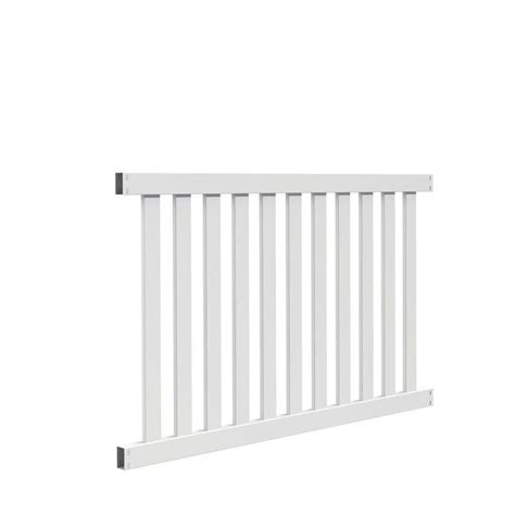 fence sections home depot allure aluminum 4 ft h x 6 ft w aluminum black