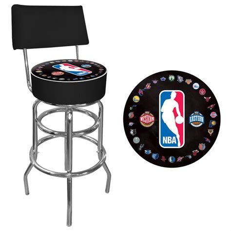 Team Logo Bar Stools by Trademark 174 Nba 174 Team Logo Padded Swivel Bar Stool With
