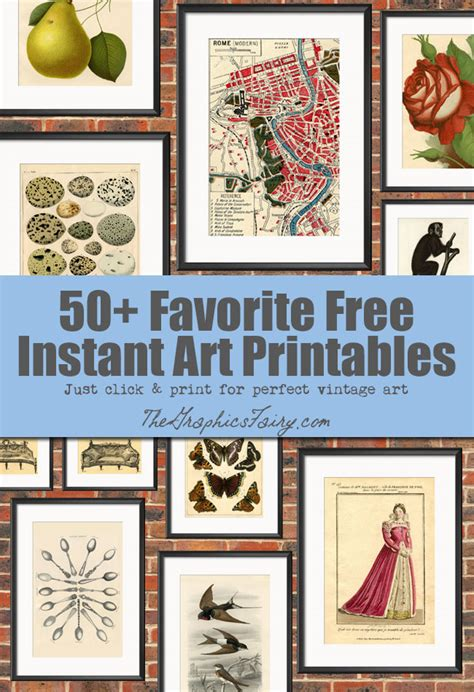 free printable wall art prints 50 free wall art printables the graphics fairy
