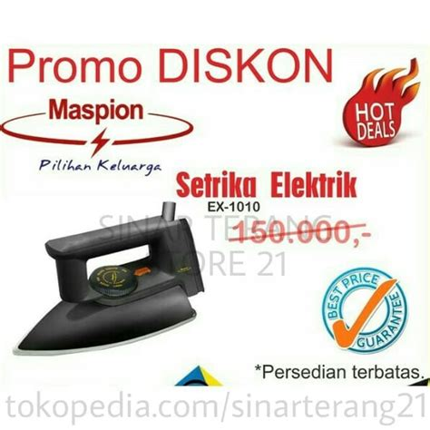Maspion Setrika Ex 1010 Blackberry jual setrika maspion ex 1010 exclusive sni gosokan