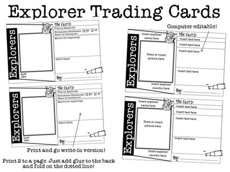 Author Trading Card Template by Trading Cards Snaps And Printable Templates On