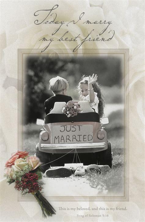 Standard Wedding Bulletin: Today I will marry my best friend