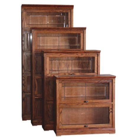 2 Shelf Mission Style Barrister Bookcase 35h