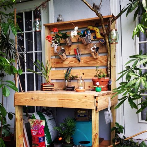 homemade potting bench pdf making a potting bench from pallets plans free