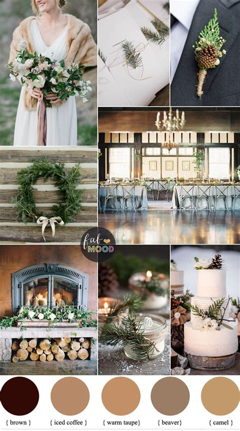rustic winter wedding new rustic winter wedding in shades of neutral warm taupe