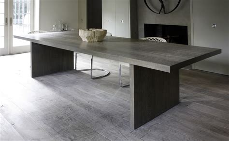 gray wood dining table mar silver design