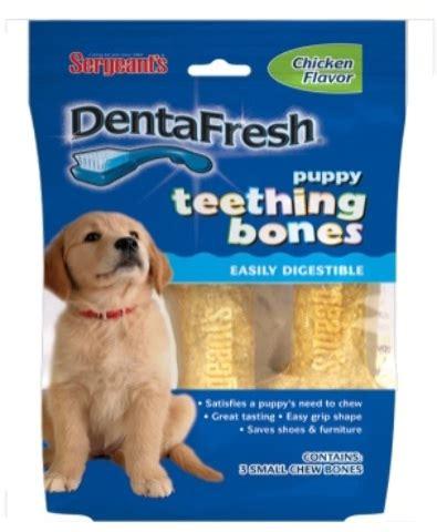 teething bones for puppies wholesale sergeant s dentafresh teething bone chicken flavor 3 count sku 1989475