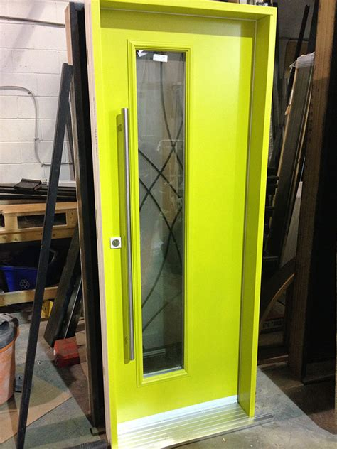 fiberglass door modern fiberglass exterior door  green