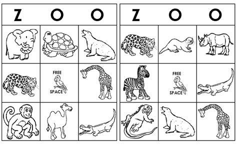 printable animal bingo for preschoolers zoo bingo games