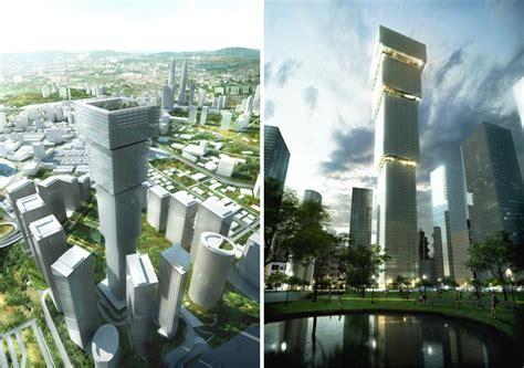 bid malaysia big inverts the traditional skyscraper for kuala lumpur
